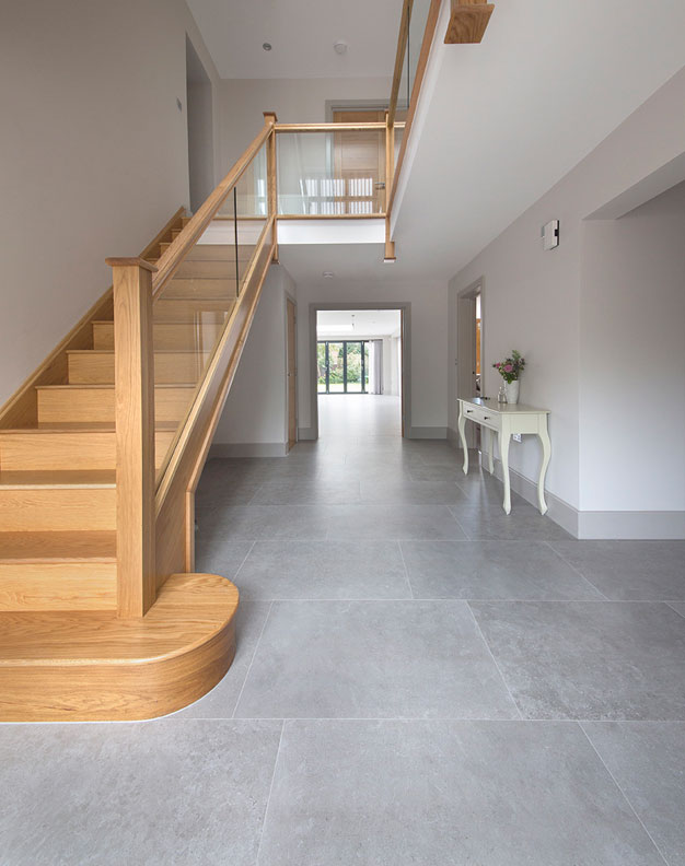 Okehampton English Grey Stone Effect Porcelain Tiles