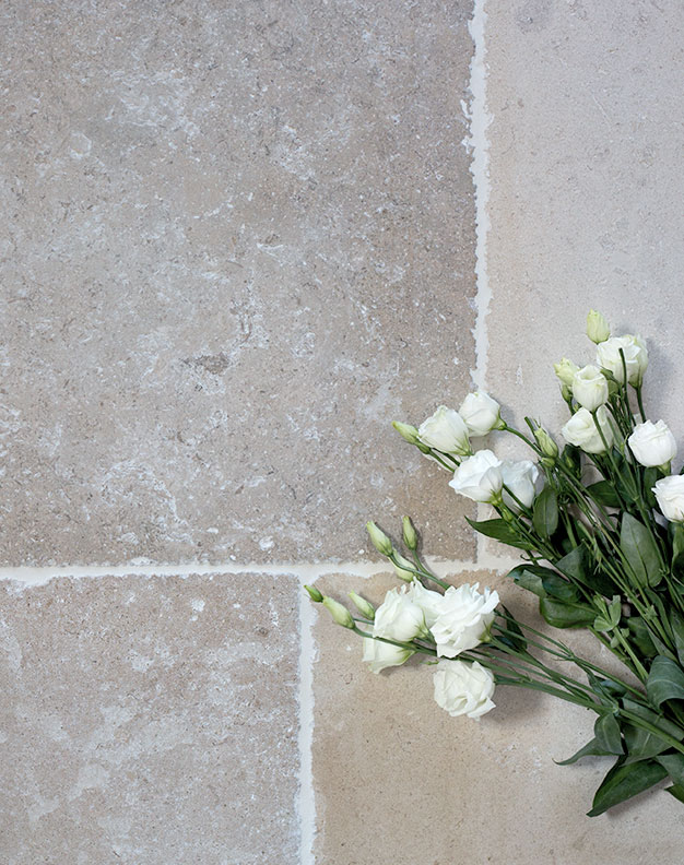 Vienne Worn Antique French Limestone Tiles