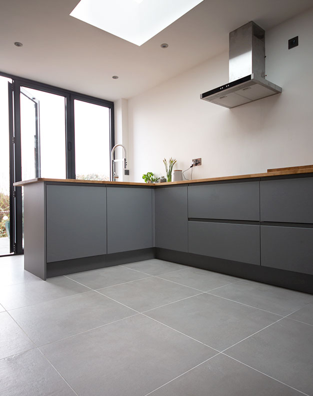 Smoked Grey Cemento Concrete Effect Porcelain Tiles